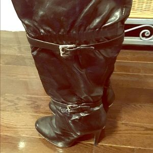 Michael kors used high heel boots, black, size 7.5